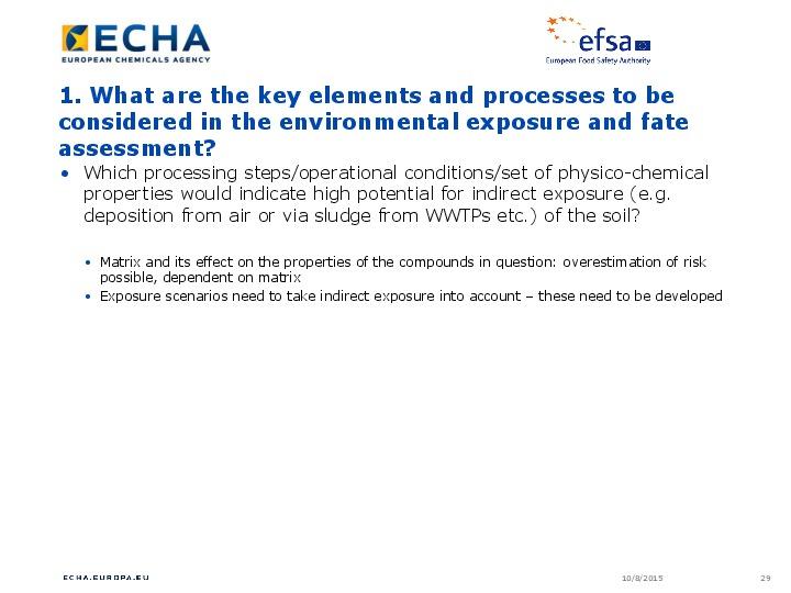 TOPICAL SCIENTIFIC WORKSHOP ON SOIL RISK ASSESSMENT